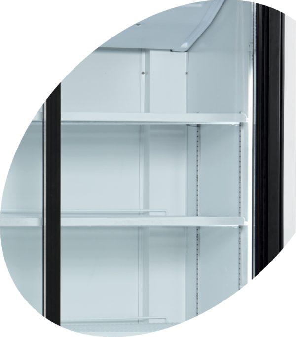 Glasschiebetüren-Kühlschrank SL 1202 G - Esta