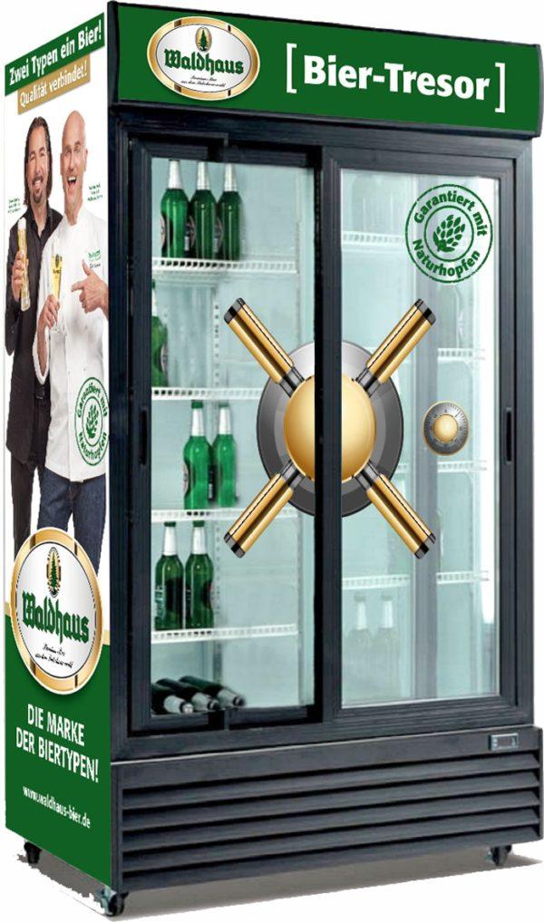 Glasschiebetüren-Kühlschrank SD 801 GL - Esta