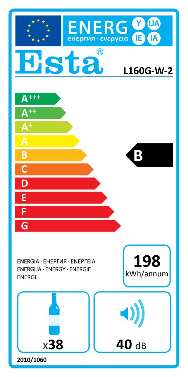 Weinkühlschrank L 160 G-W-2 - Esta