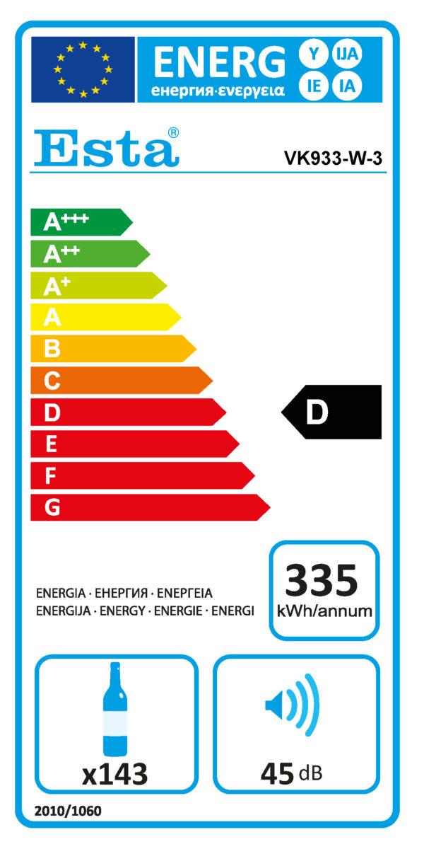 Weinkühlschrank VK 933-W-3 - Esta