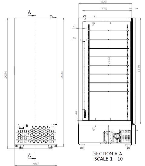Eiscremelagerschrank Gelo Box W und CNS