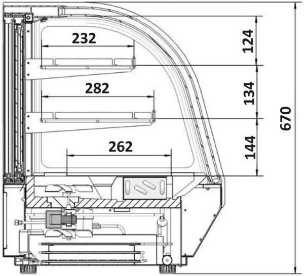 Kühlvitrine LCT 900C-black - Esta