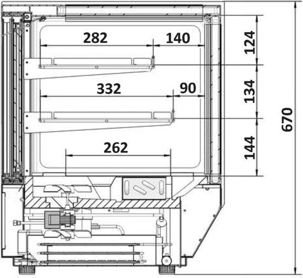 Kühlvitrine LCT 900F-black - Esta